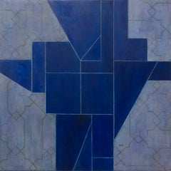 Color abstract oil paintings - Arabesque and geometric shapes