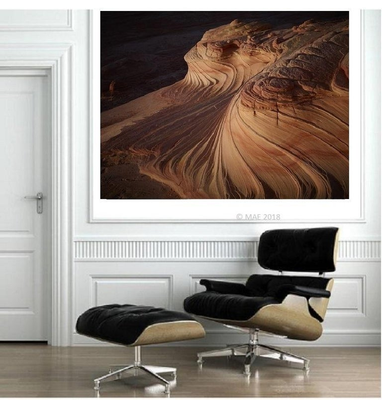Photography of American landscape series - The Wave, Paria Canyon, Arizona n.2 - Black Black and White Photograph by MAE Curates
