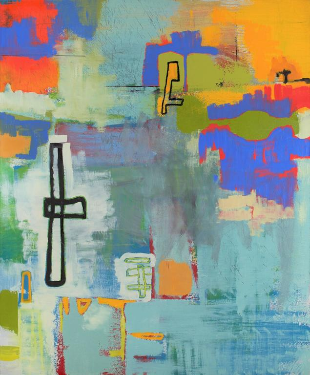 Alexis Portilla Abstract Painting - Large Oil Painting - Okinawa (Abstract Expressionist)
