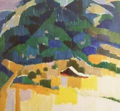 OIl on Linen - Forested Mountain, 1994, Pt. Reyes, California