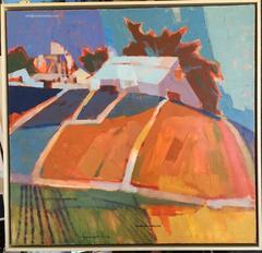 Painting - California Landscapes Series  (Orange Field), Monterey California, 19