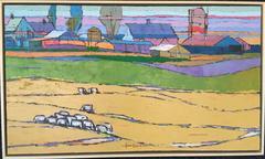 "Oil on Canvas - ""Striped Barn"", Easton, California 1979"