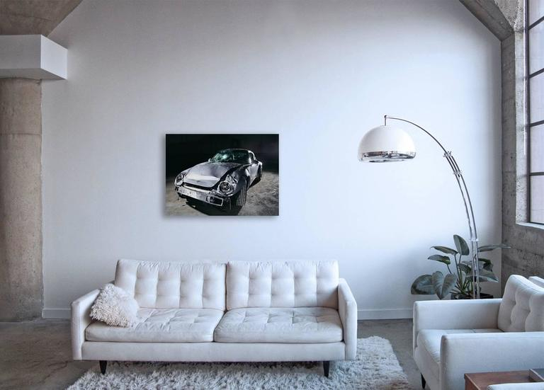 Nine-One-One (Porsche 911) - still life photograph of iconic crashed  automobile - Photograph by Frank Schott