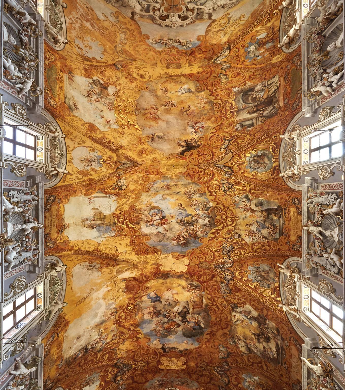 Hallelujah - large format photograph of baroque Italian palazzo fresco ceiling