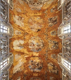 Hallelujah - large format photograph of baroque Italian palazzo fresco ceiling