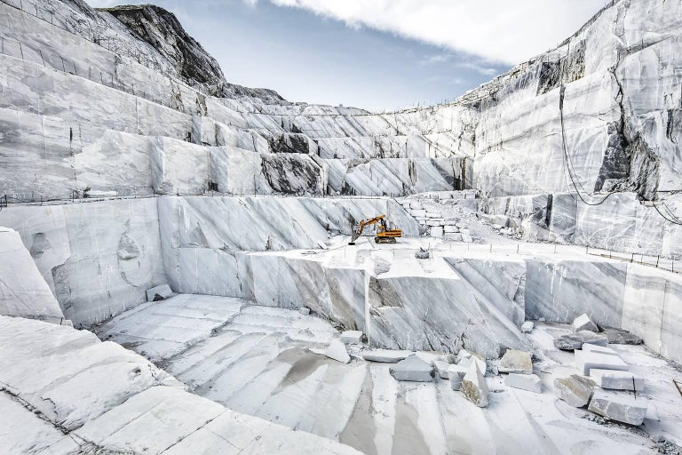 Frank Schott Landscape Photograph - Marmo di Carrara - large format photograph of iconic Italian marble quarry