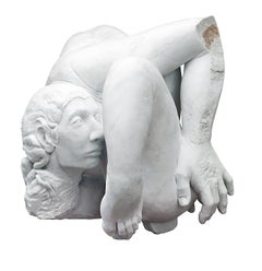 Embrione - hand carved figurative Carrara marble sculpture