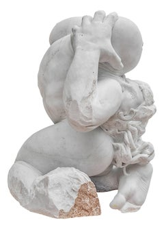 Madre Terra - hand carved figurative Carrara marble sculpture