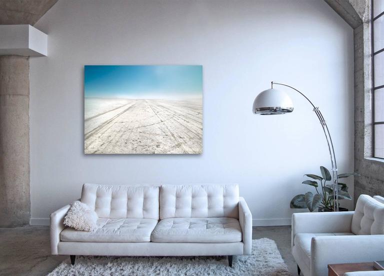 El Mirage - large format photograph of bright California desert landscape - Photograph by Frank Schott
