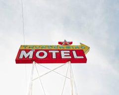 Thunderbird - large scale photograph of iconic mid century neon signage