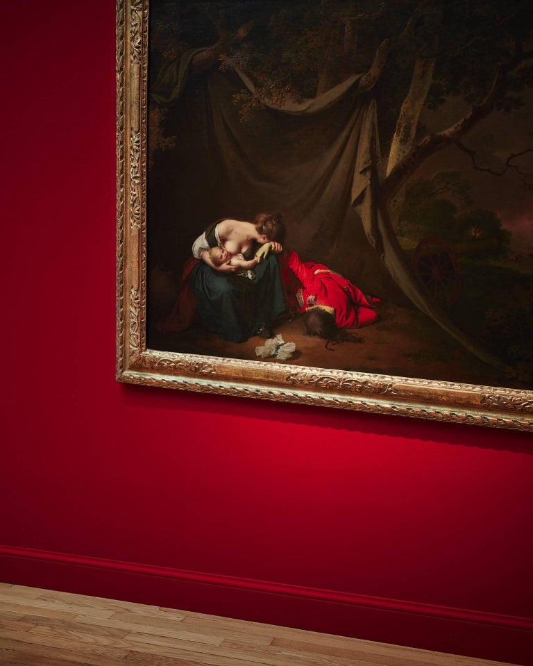 Frank Schott Color Photograph - Gilded Drama - observation on iconic French master paintings and gilded frames