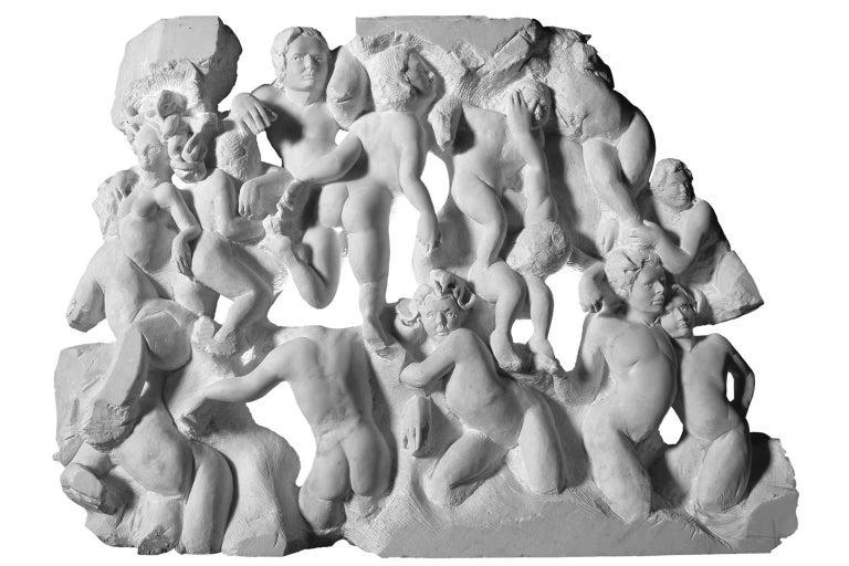 Lorenzo Vignoli Figurative Sculpture - Danza ( Dance ) - hand carved figurative Carrara marble sculpture