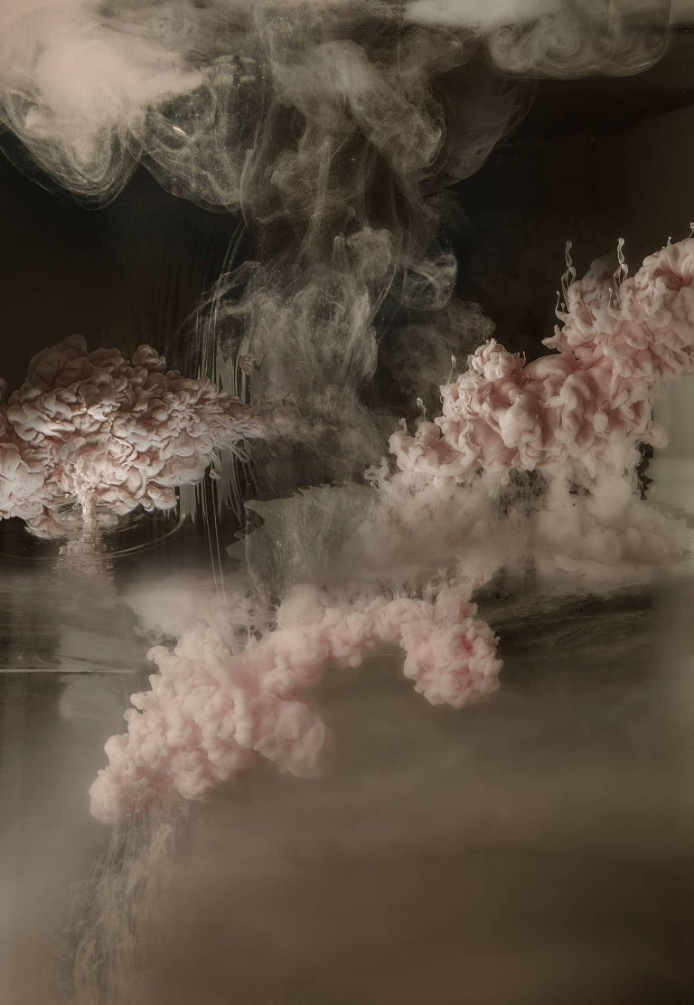 Christian Stoll Abstract Print - Stratosphere I  - large format photograph of abstract liquid water cloudscapes
