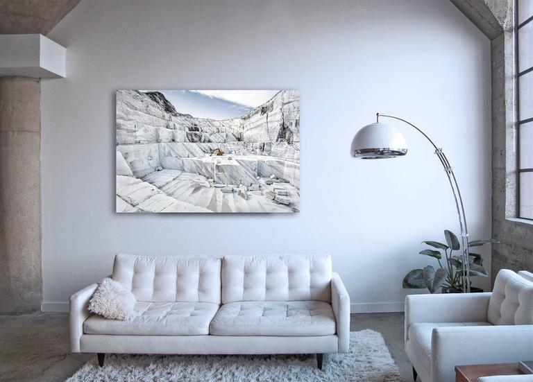 Marmo di Carrara - large format photograph of iconic Italian marble quarry - Photograph by Frank Schott