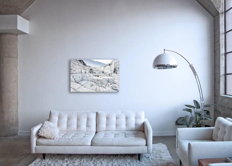 Marmo di Carrara - large format photograph of iconic Italian marble quarry - Contemporary Photograph by Frank Schott