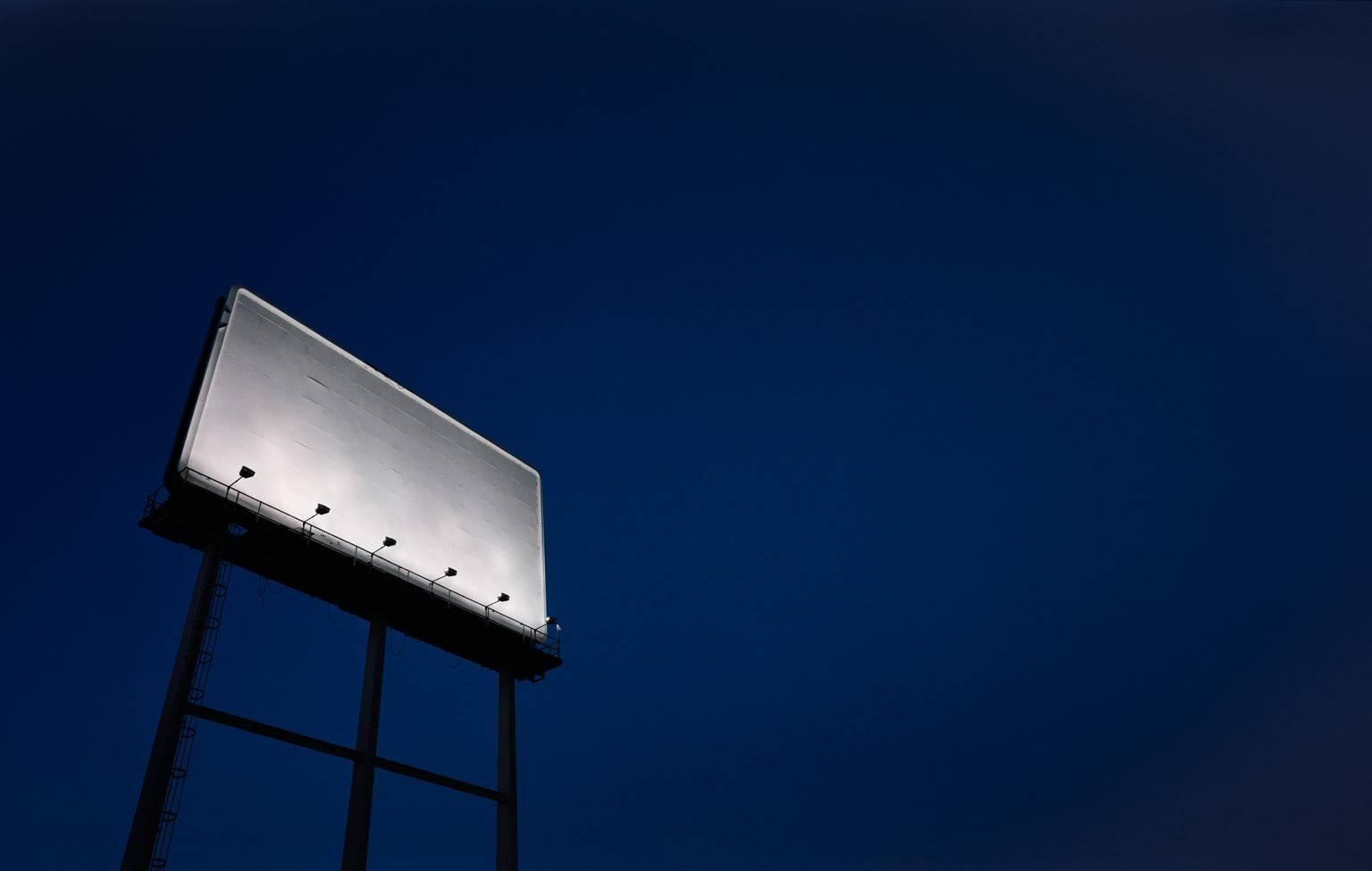 Billboard - large scale monochromatic photograph of iconic Americana billboard