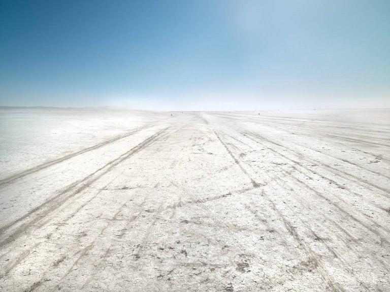 Frank Schott Color Photograph - El Mirage - large format photograph of bright California desert landscape