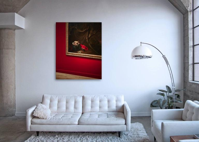 Gilded Drama - observation on iconic French master paintings and gilded frames - Contemporary Photograph by Frank Schott