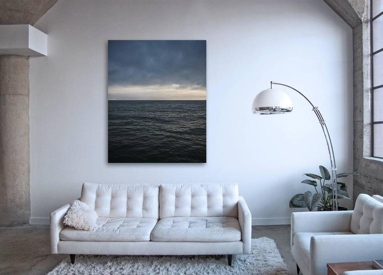 Seascape IV - large format abstract photograph of water color clouds and horizon - Photograph by Frank Schott