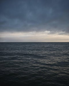 Seascape IV - large format abstract photograph of water color clouds and horizon