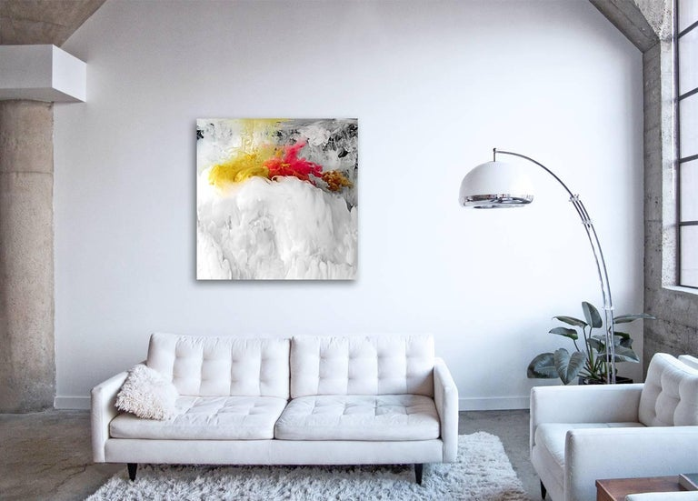 FLOW I  - large format photograph of abstract liquid water cloudscapes - Contemporary Print by Christian Stoll