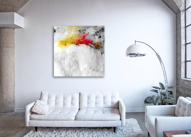 FLOW I  - large format photograph of abstract liquid water cloudscapes - Print by Christian Stoll