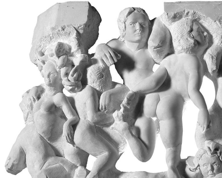 Danza ( Dance ) - hand carved figurative Carrara marble sculpture - Contemporary Sculpture by Lorenzo Vignoli