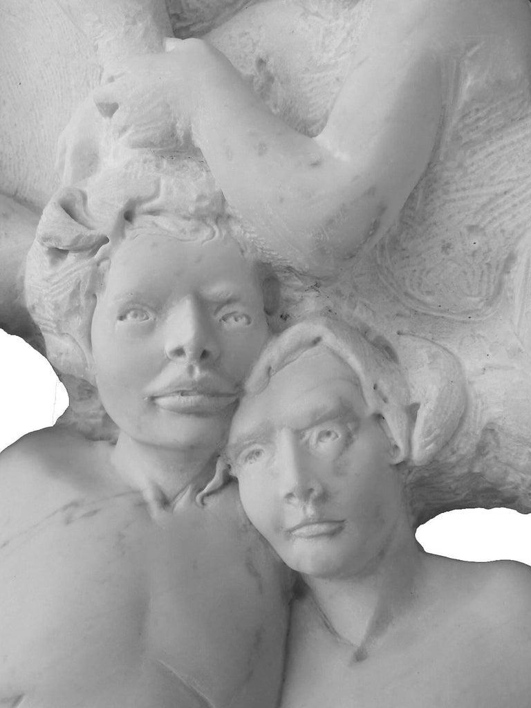 Danza ( Dance ) - hand carved figurative Carrara marble sculpture For Sale 1