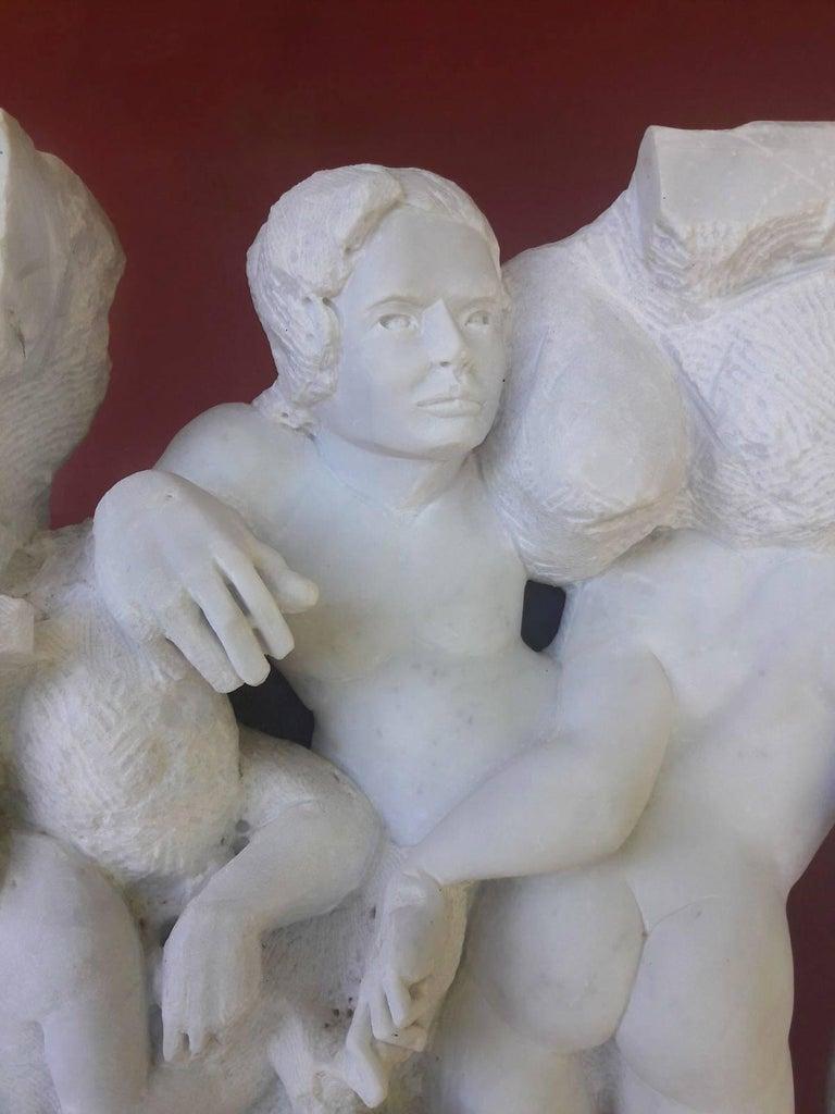 Danza ( Dance ) - hand carved figurative Carrara marble sculpture For Sale 6
