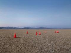 "Cones 2006 ( 48 x 65"" / 122 x 165cm )  conceptual and formal Desert Landscape"