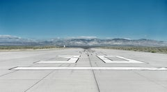 Runway - large format photograph of iconic airport runway tarmac