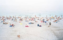 Nizza - large format photograph of summer beach scene in South of France