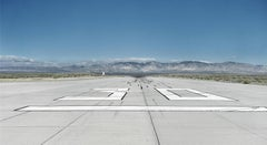 Runway - large format art photograph of iconic airport runway tarmac