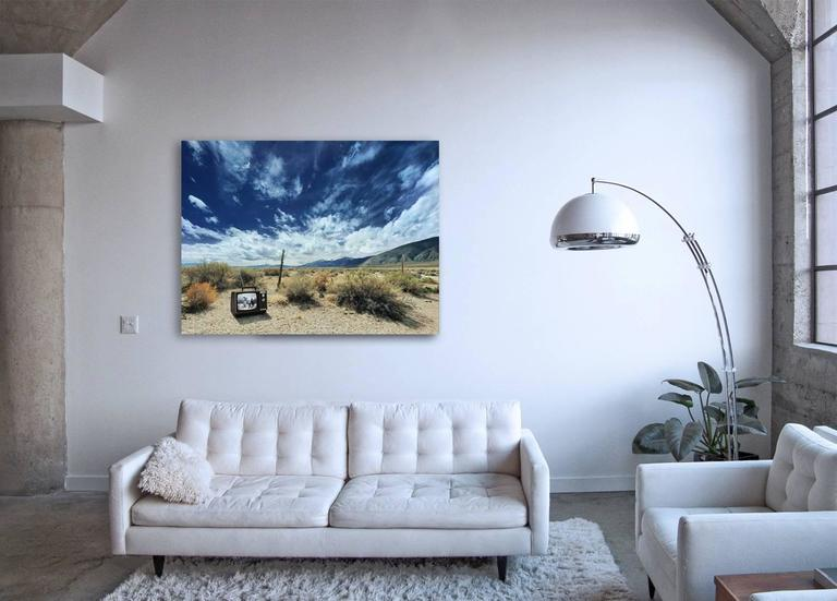 Cowboy TV - large format photograph of iconic western in American landscape - Contemporary Photograph by Frank Schott