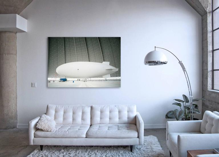 Zeppelin - large format photograph of iconic white airship - Contemporary Photograph by Christian Stoll