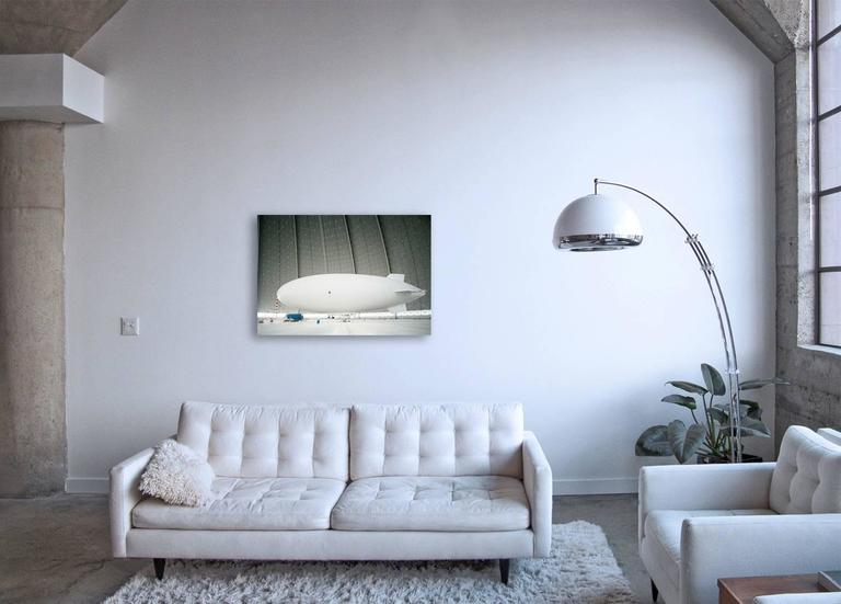 Zeppelin - large format photograph of iconic white airship - Photograph by Christian Stoll