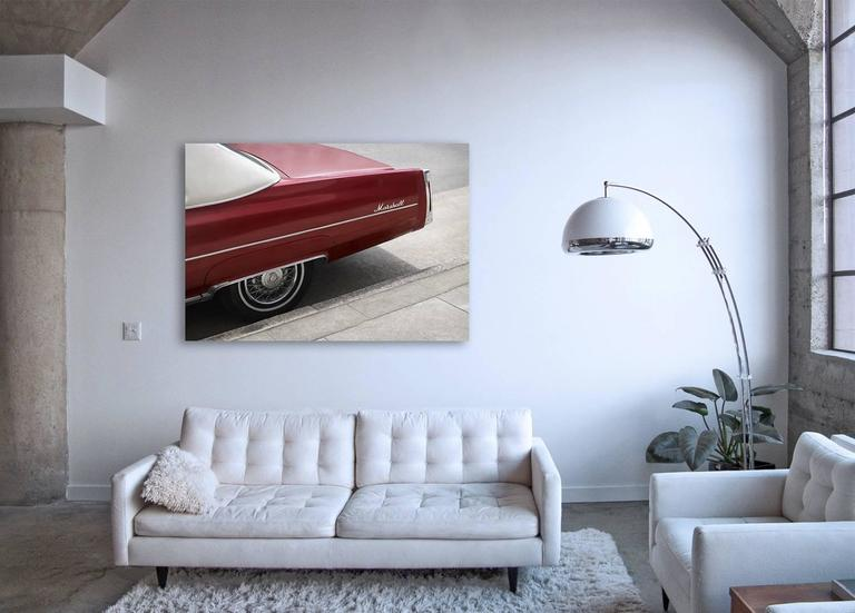 Marshall - large format photograph of iconic cherry red Cadillac automobile - Contemporary Print by Frank Schott