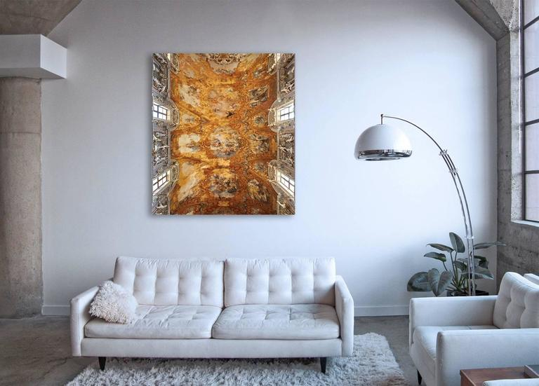 Hallelujah - large format photograph of baroque Italian palazzo fresco ceiling - Photograph by Frank Schott