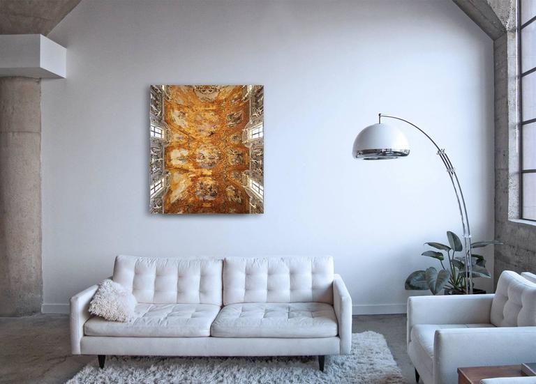Hallelujah - large format photograph of baroque Italian palazzo fresco ceiling - Contemporary Photograph by Frank Schott