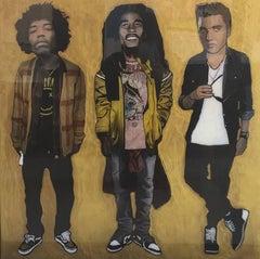 Jimi Hendrix, Bob Marley and Elvis Presley