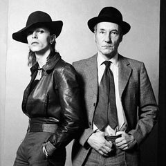 David Bowie & William Burroughs by Terry O'Neill, 1974