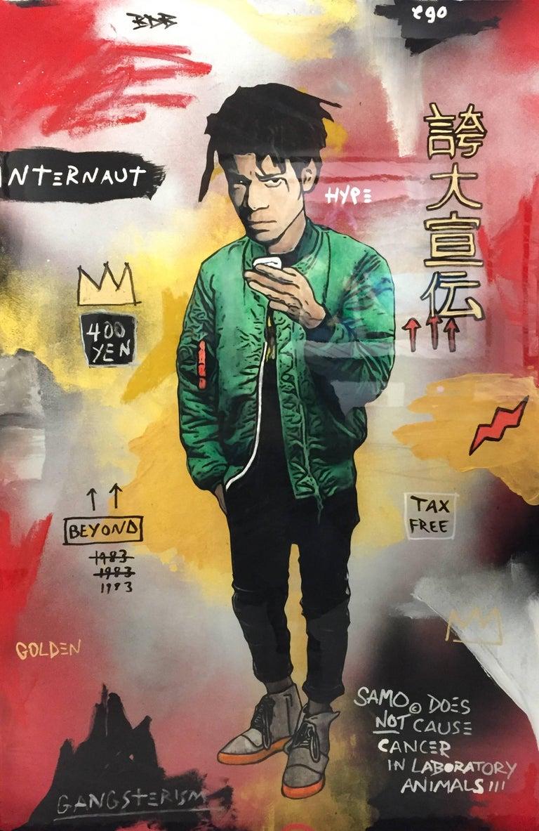 The Producer BDB Portrait Painting - Basquiat