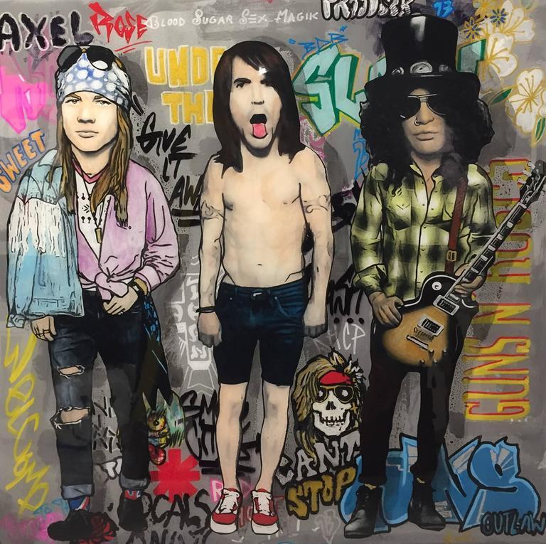 Axl, Kiedis, and Slash
