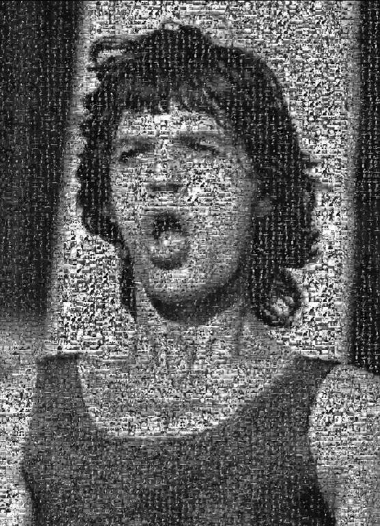 Lynn Goldsmith Black and White Photograph - Mick Jagger - Rock Mosaic