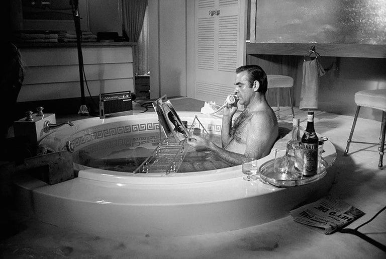 Sean Connery in Bathtub, 1971