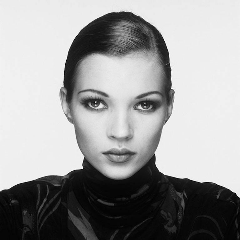 Kate Moss Portrait 1993, Signed by Kate Moss & Terry O'Neill