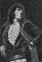 Mick Jagger Hands on Hips Mosaic