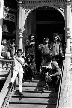 Grateful Dead on the steps