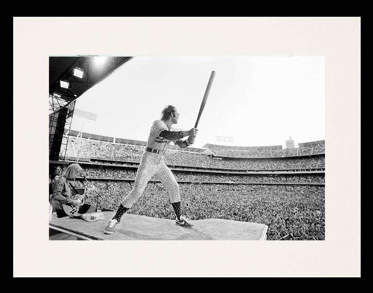 Terry O\'Neill - Elton John Dodgers Stadium, Batting (Framed ...