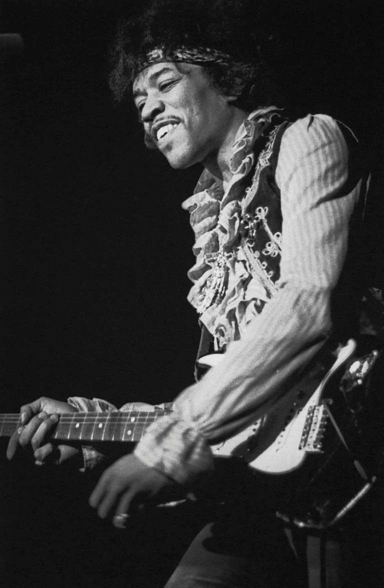 Colin Beard Black and White Photograph - Jimi At Monterey #32